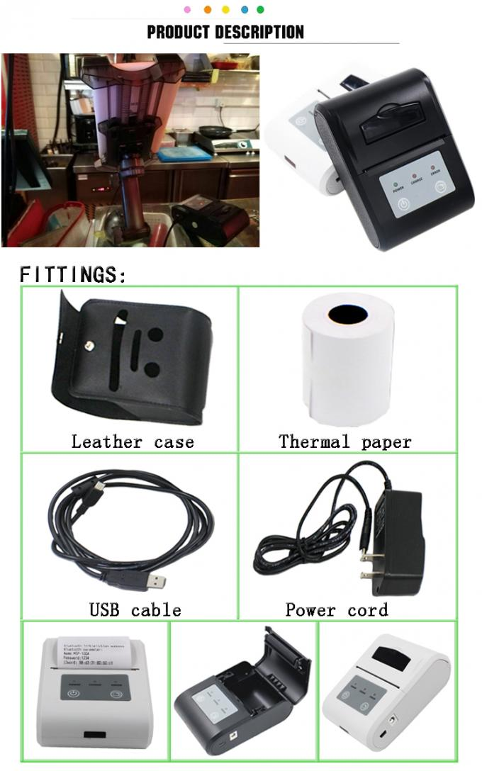 Handheld 58mm Bluetooth Thermal Receipt Printer For Android Mobile Phone
