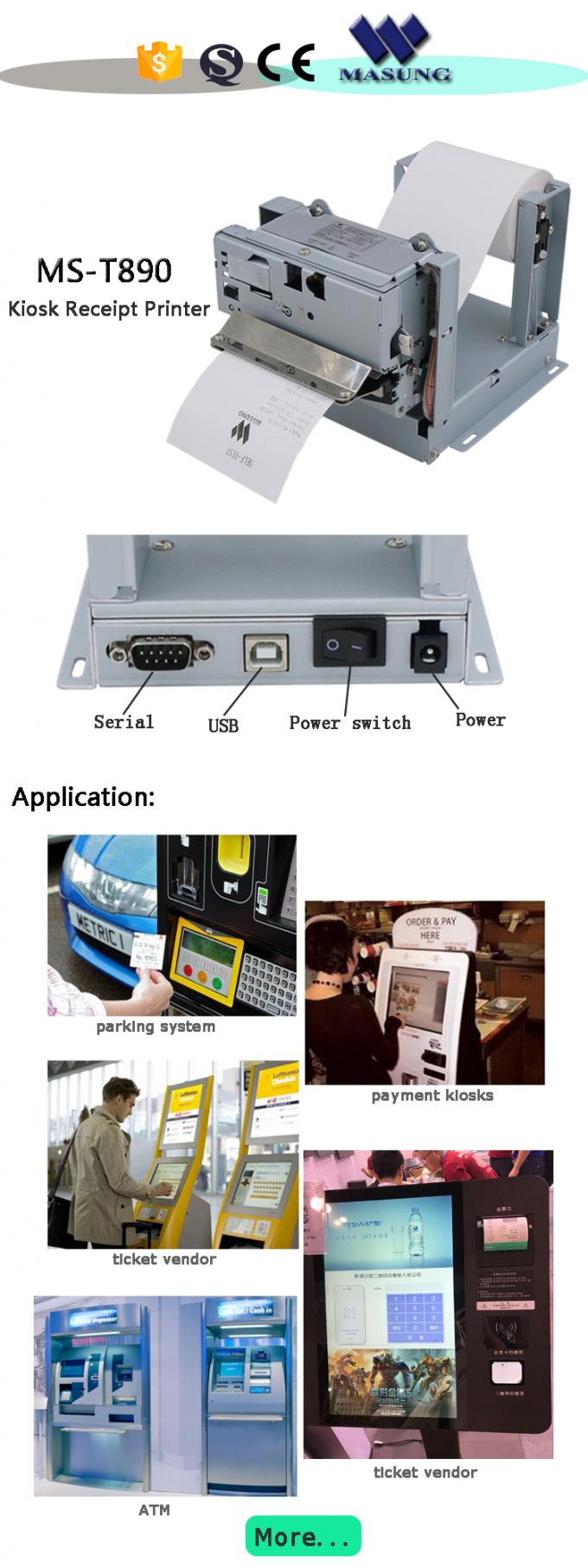 Multi Functional Kiosk Receipt Printer Dot Matrix  Machine Embedded Receipt